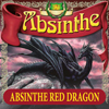 Extra etikett till Absinthe Red Dragon, 90x90 mm